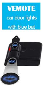 car door lights with blue bat