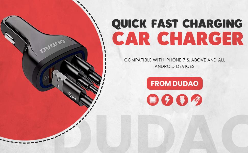 Dudao SPN-BNB85C belkin mi mivi zebronics syska Fast Car charger nokia oneplus original portronics