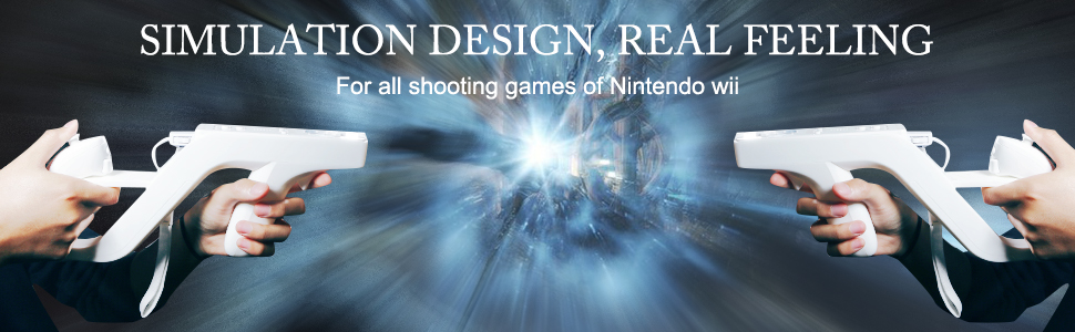 Real Feeling for all shooting games of Nintendo Wii /Wii U remote,Hunting Guns for Wii Accessories
