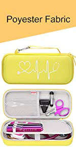 yellow stethoscope case