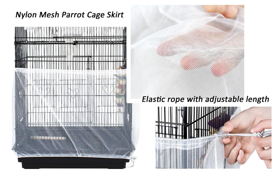 parrort cage skirt