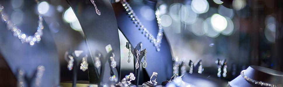 Echt Silber Herz-Kette mit Swarovski® Kristall Herz Halskette spiegelnd Schmuck