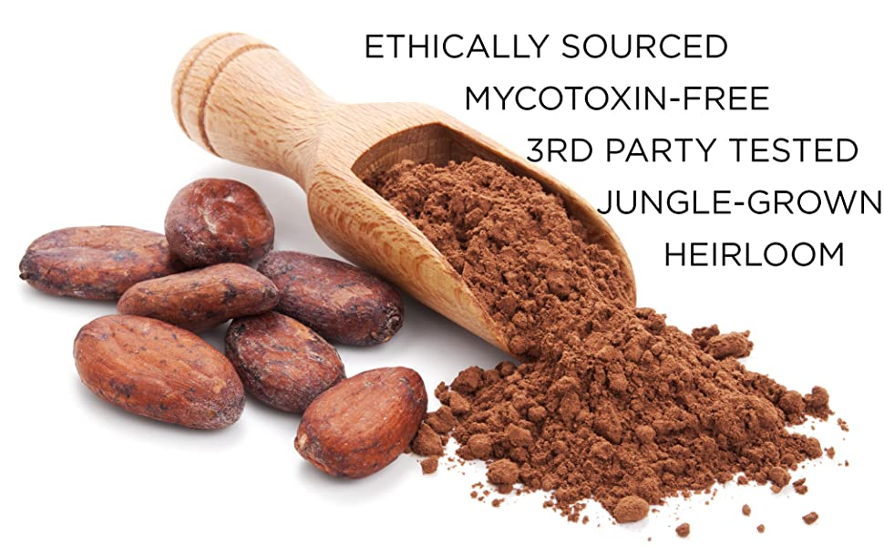 Addictive Wellness Raw Heirloom Cacao Powder Chocolate Cocoa