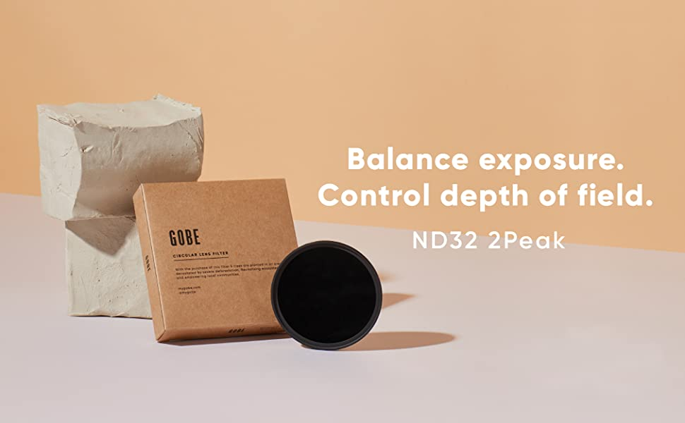 ND Lens Filter 2Peak 5 Stop Gobe 46mm ND32