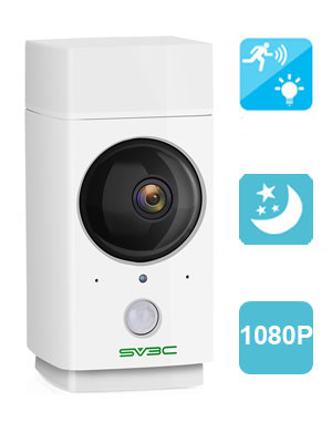 SV3C 360°Coverage Panorama Navigation Wireless IP Camera 1080P Nanny Cam Pet Camera Baby Monitor