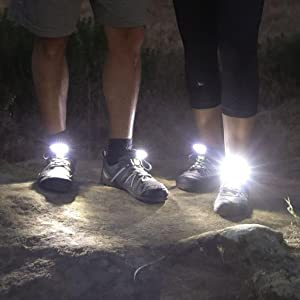 shoe lights for running at night runner safety low light