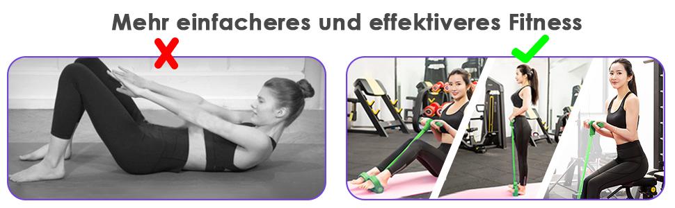 Mehr einfacheres und effektiveres Fitness