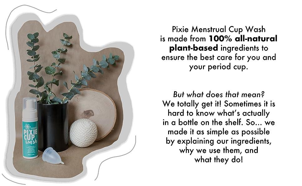 Pixie Cup Wash Ingredients
