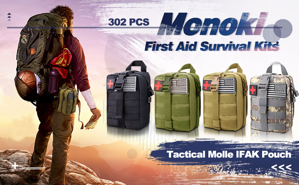 Tactical molle first aid kit