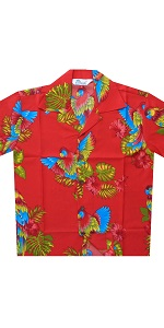 Parrot Print Hawaiian Shirts for Boys