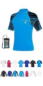 Rash guard UPF50+ UV protection clothing swim suit