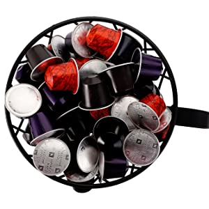 K Cup Holder Kcup Storage Organizer for Counter Coffee Bar Black