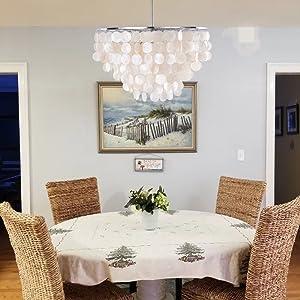 dining room capiz chandelier