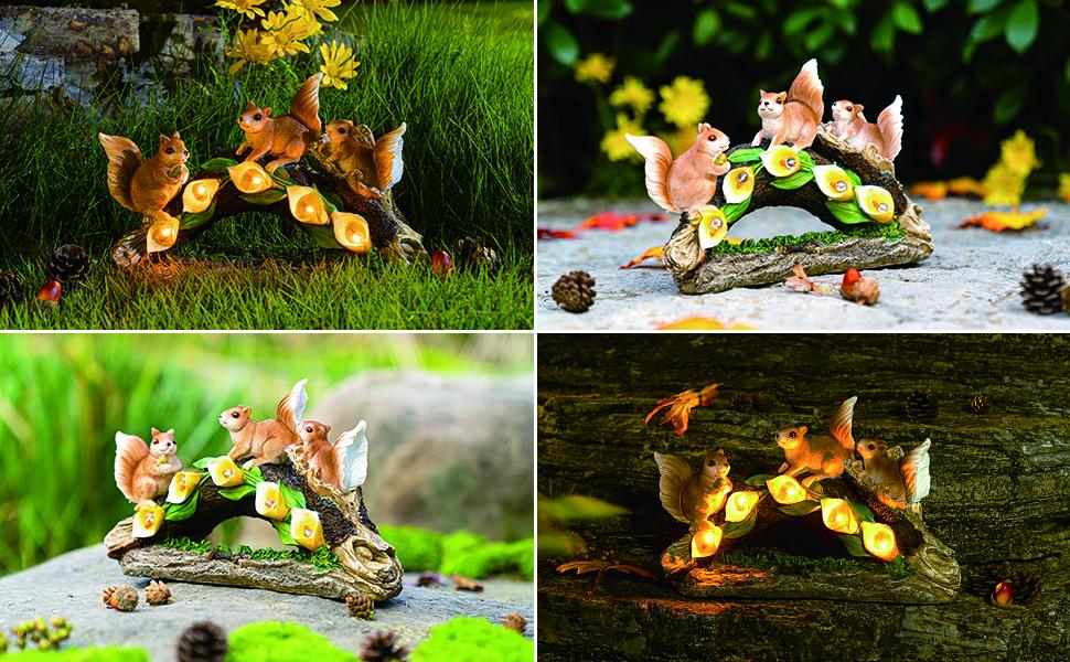 花园松鼠雕像