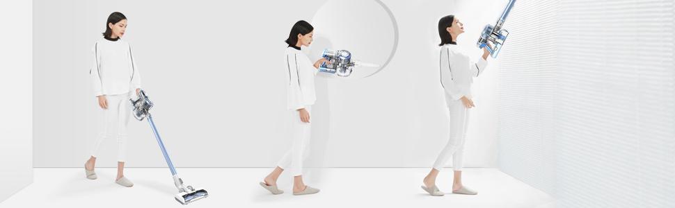 Aspiradora sin cable de mano escoba Tineco A11 Hero con motor digital de 450W , hasta 60 minutos ,estación mural de carga doble, potente, portátil y ...