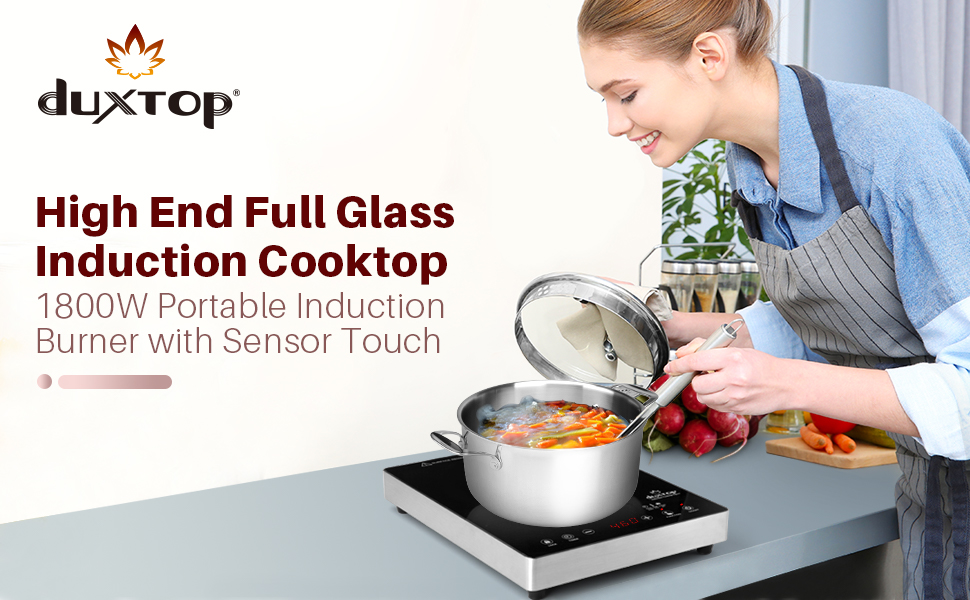 high end full glass induction cooktop