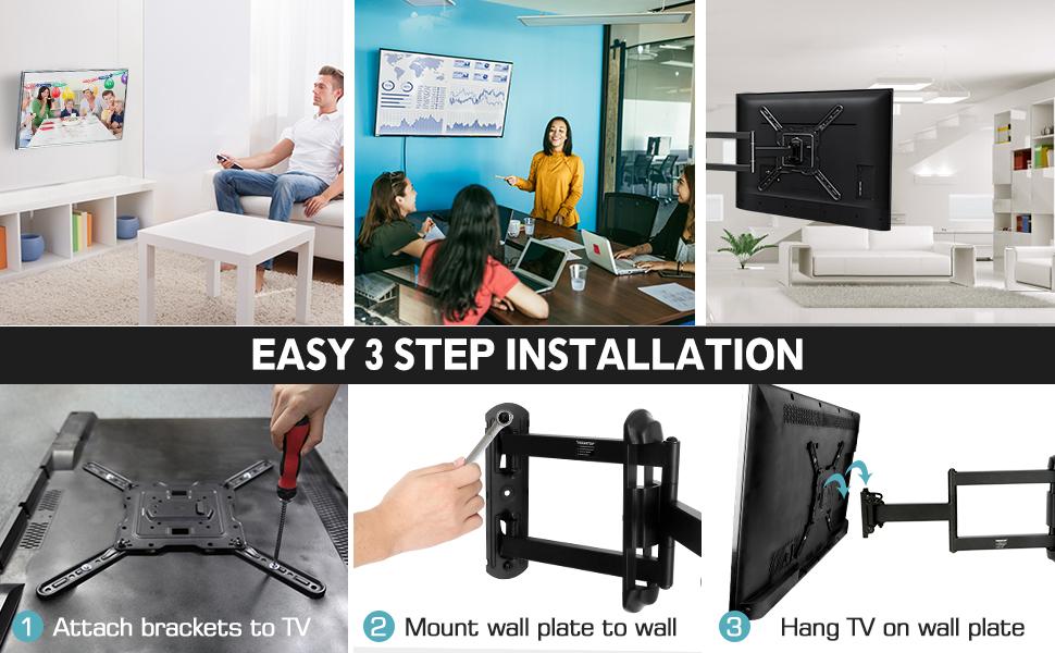 43 full motion tv wall mount