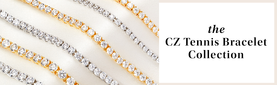 cz tennis bracelet collection