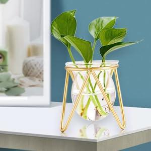 mini gold vase