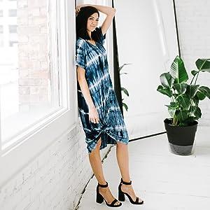 Nesting olive loose fitting hose dresses