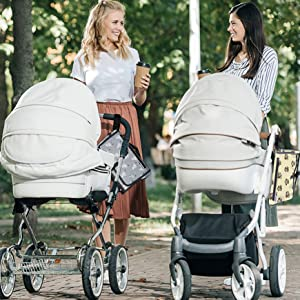 Stroller and baby change pad