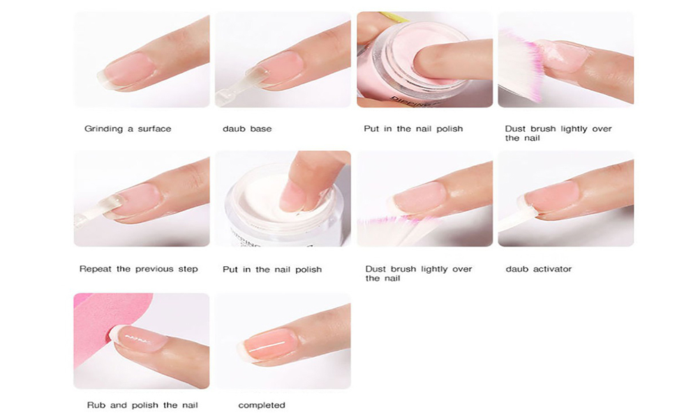 Dipping Powder Nail Set Collection, Dip Powders Nails for French Nail Manicure Art Essential Set