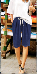 womens shorts elastic waist womens cargo shorts khaki shorts for women shorts for women