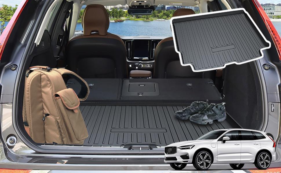 Yee Pin Kofferraummatte Für Volvo Xc60 Spa 2018 2019 Seitenschutz Tpo Material Laderaumschale Schutzmatte Für Sicheren Transport Von Gepäck Rutschfester Autozubehör Auto