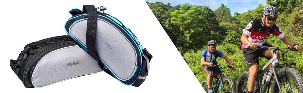 BlueTop Mountain Road Bicycle Bike Rack Bag Seat Cargo Bag Rear Pack Pannier