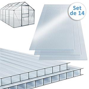 Plaque de polycarbonate jardin bricolage protection taille standard plastique transparent résistant
