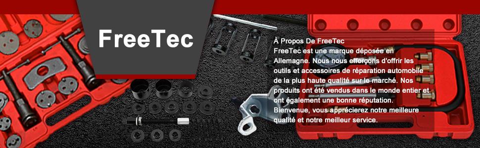 FreeTec 5PCS Cl/é de purge de purge de frein Set de purge de frein outil de voiture 7-11mm