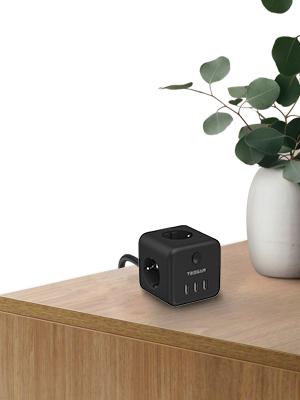 Meervoudige stekkerdoos met kubus Ruiks Cube verdeler stopcontact met USB-schakelaar tafelstopcontact