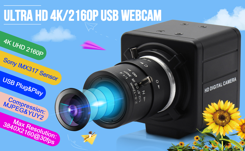 ultra hd 2160p 4k usb mini usb webcam