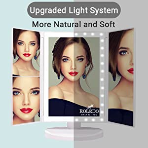 Dimmable LED makeup mirror