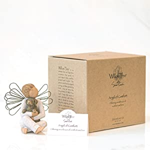 Angel of comfort, enclosure card, and box together