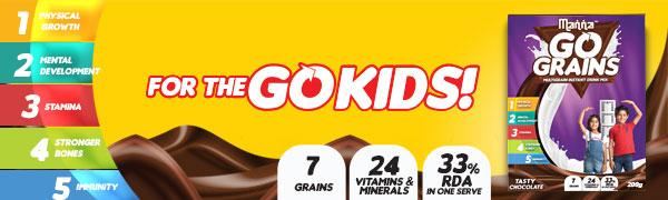 Manna Go Grains - Kids Chocolate Health Drink