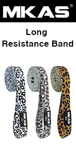 leopard resistance bands set
