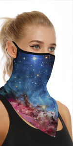 Ear Loops Face Mask Rave Scarf Neck Gaiters