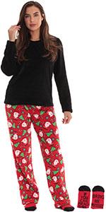 Just Love pajamas pajama set pj lounge loungewear jammies xmas christmas santa tree socks