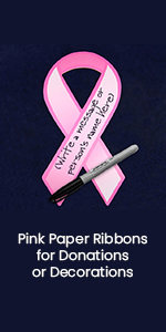 Pink Paper Ribbons for Donations or Decorations