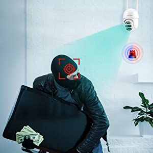 Surveillance Camera with Smart Motion Detection, Tracking and Alarm