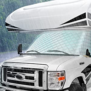 BougeRV RV Windshield Sunshade Cover for Class C Ford 1997-2020