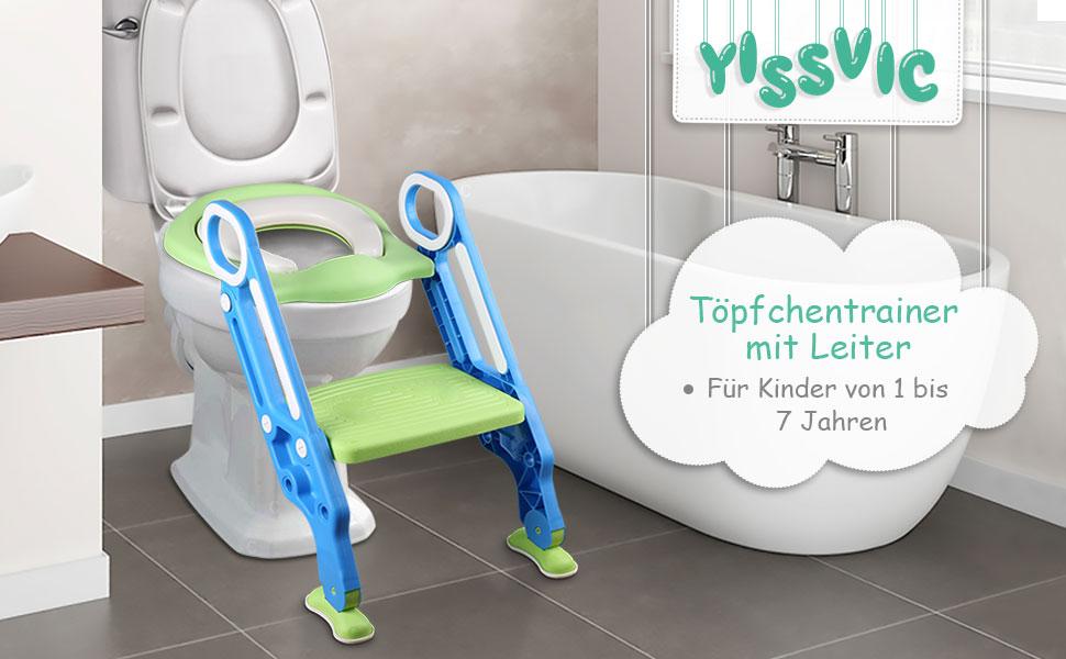 Blau Gr/ün T/öpfchentrainer Toiletten-Trainer Verstellbarer T/öpfchentrainingssitz Kindertoilette verstellbarer Sicherheits-T/öpfchen-Trainingssitz f/ür Kinder 64,7x36,5cm Kinder Toilettensitz
