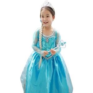 URAQT Vestido de Princesa Elsa, Reina Frozen Disfraz Elsa Vestido ...