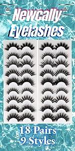 18 pairs fake lashes