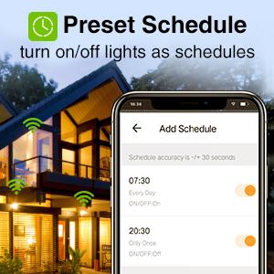 Preset Schedule