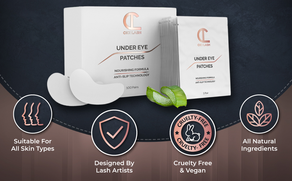 CICI Lash Professional Under Eye Pads For Eyelash Extensions Certified By Lash Artists
