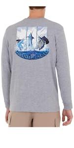 guy harvey, longsleeve top, pocket tee, fishing top, casual tees, mens fishing shirt, men apparel