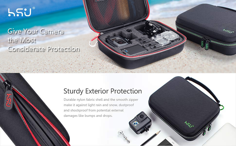Protective Carrying Case by HSU for GoPro