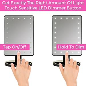 Makeup Mirror Touch Screen